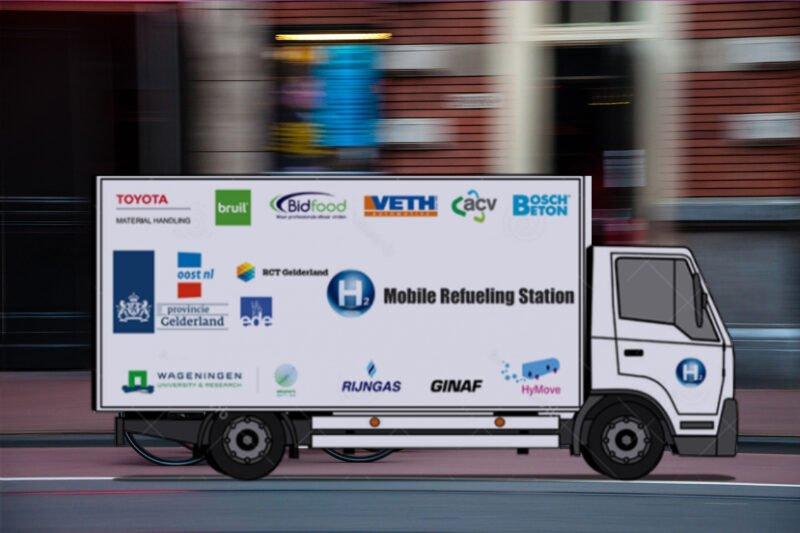 Mobiele waterstoftank